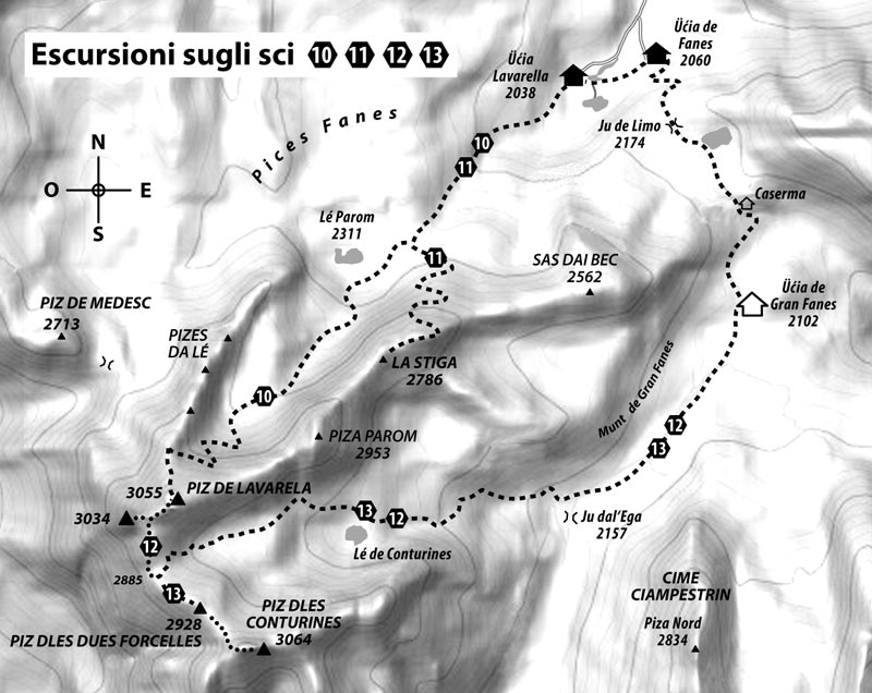 Tour 10: PIZ DE LAVARELA – 3055 m – from the north – also »Monte Lavarella«